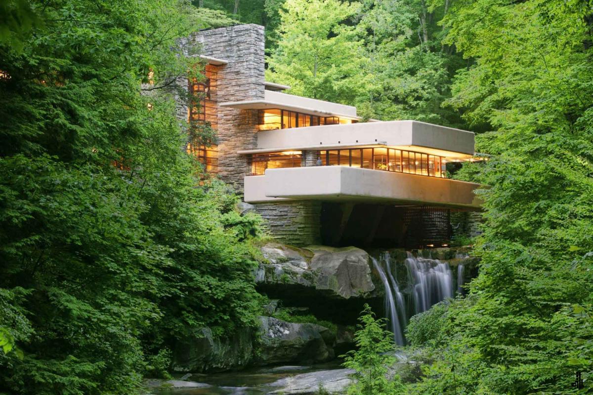 خانه آبشار-خانه کافمن-معماری ارگانیک-فرانک لوید رایت
