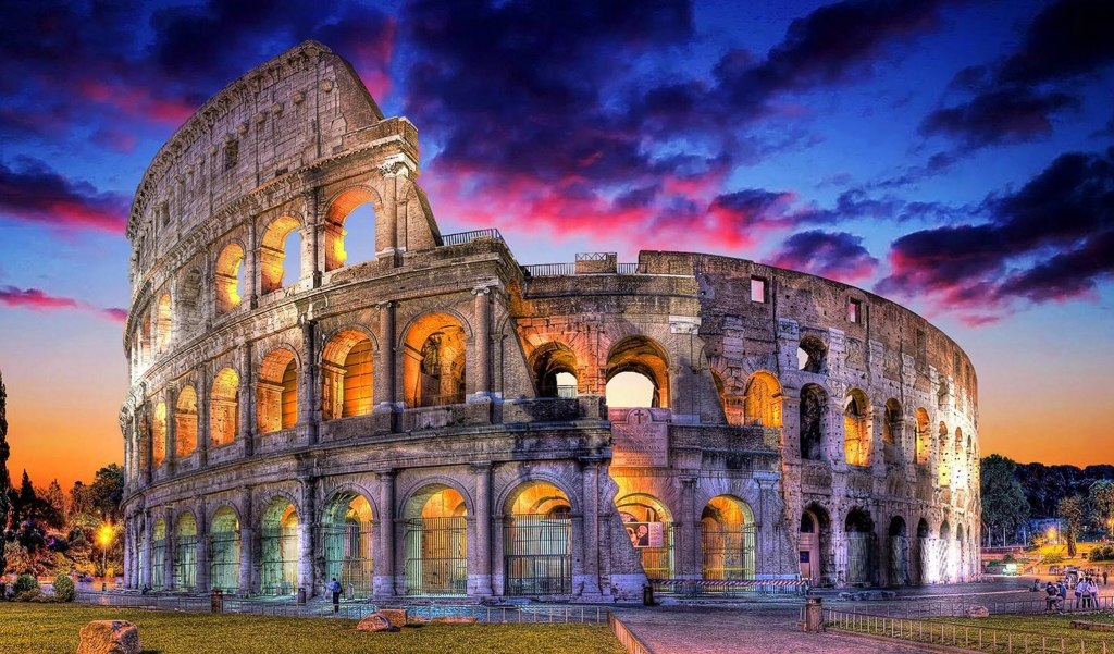 معماری روم باستان-آمفی تئاتر کلوسئوم
