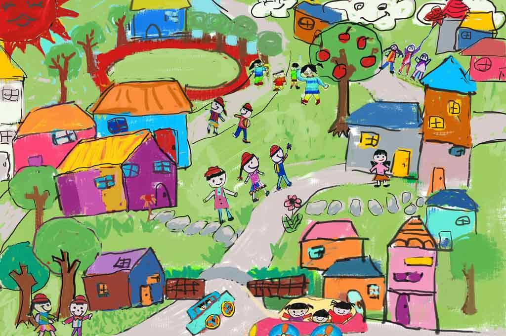 پاورپوینت هنر در دنیای کودکان بررسی ادمک ، خانه و درخت در نقاشی کودکان