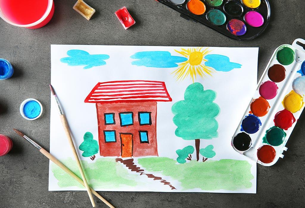 بررسی رنگ و فرم در نقاشی کودکان پرورشگاه