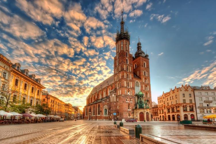 میدان کراکوف لهستان