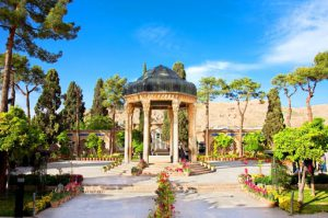 مقبره حافظ همجوار کتابخانه ملی شیراز