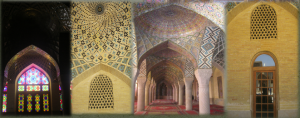 تزیینات موجود در مسجد نصیرالملک شیراز